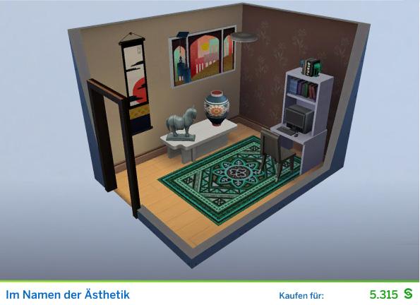 Gestaltetes Zimmer Im Namen der Ästhetik für PRs der Die Sims 4 Karriere Soziale Medien