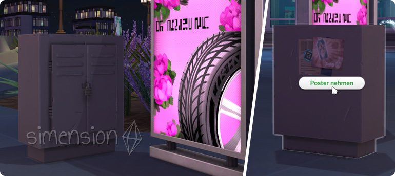 Stadtposter nehmen in Die Sims 4