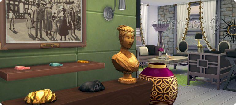 Metalle und Dekorationen mit Plus auf Die Sims 4 Emotion Glücklich