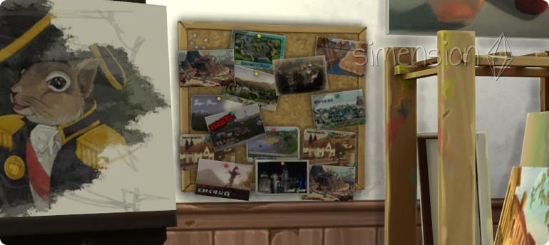 Postkarten und Dekorationen mit Plus auf Die Sims 4 Emotion Inspiriert