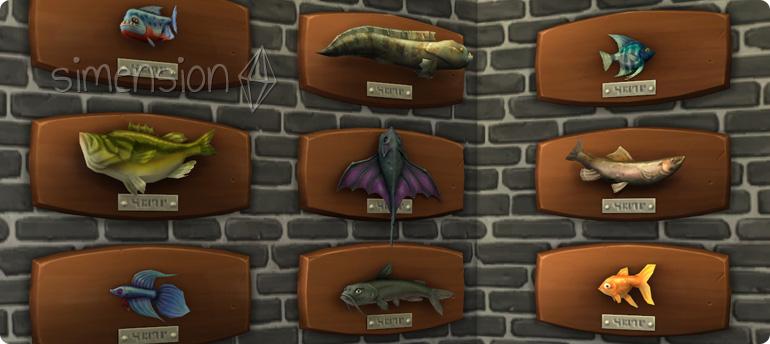 Fische an der Wand mit Plus auf Die Sims 4 Emotion Selbstsicher