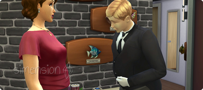 Butler in Die Sims 4 Vintage Glamour-Accessoires