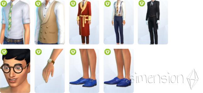 Neue Erstelle einen Sim-Teile für Simsherren in Die Sims 4 Vintage Glamour-Accessoires