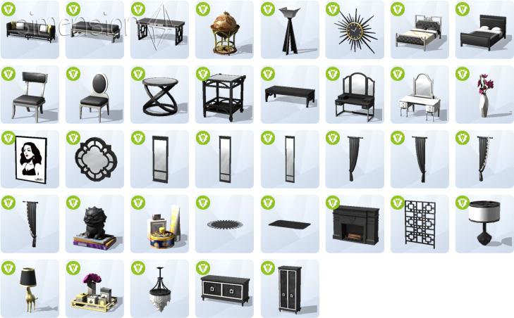 neue Objekte im Kaufmodus mit Die Sims 4 Glamour-Accessoires