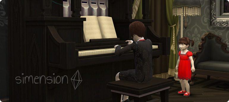 Die Sims 4 Fähigkeit Orgel als Kind lernen