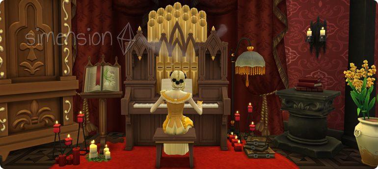Die Sims 4 Fähigkeit Orgel mit 10 Leveln