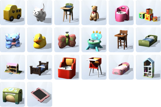 Möbel und Dekorationen für Kleinkinder in Die Sims 4