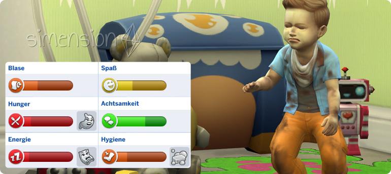 Verwahrlosung von Kleinkindern in Die Sims 4