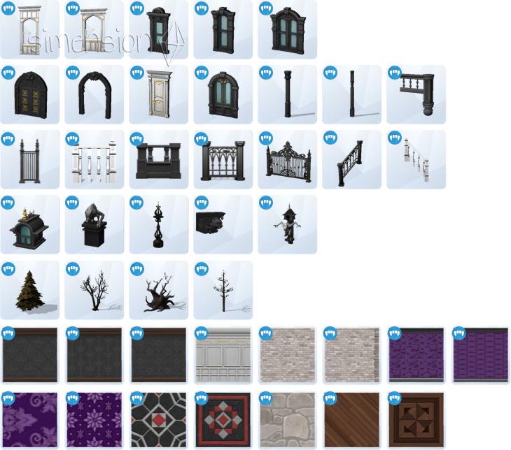 Die Sims 4 Vampire Baumodus mit neuen Objekten