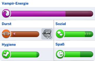 Bedürfnisse der Die Sims 4 Vampire