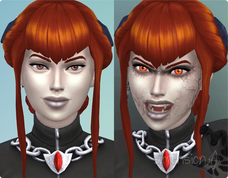 Die Sims 4 Vampire mit Dunkler Form im Erstelle einen Sim (CaS) erschaffen