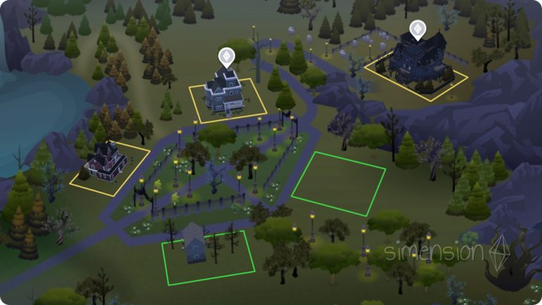 Nachbarschaft Forgotten Hollow in Die Sims 4 Vampire
