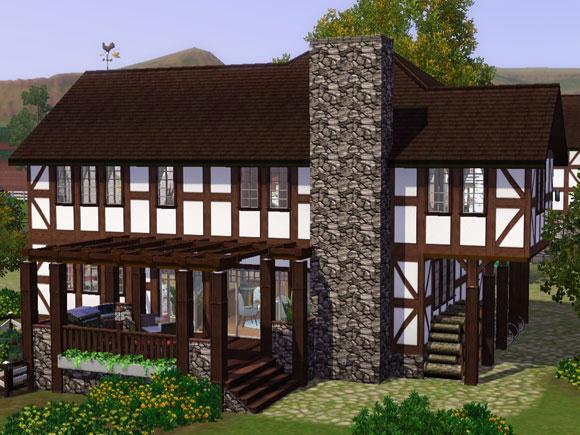 Projekt 1 famili res wohnen im sanierten vierseithof for Sims 4 dach bauen