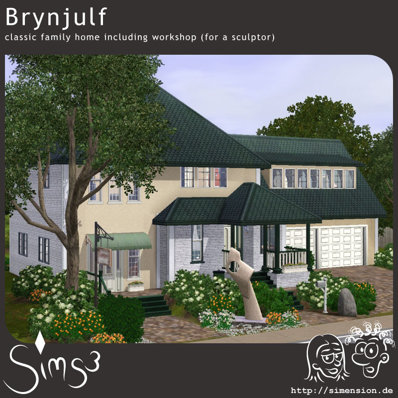 Brynjulf classic family home including a sculptors for Classic family home
