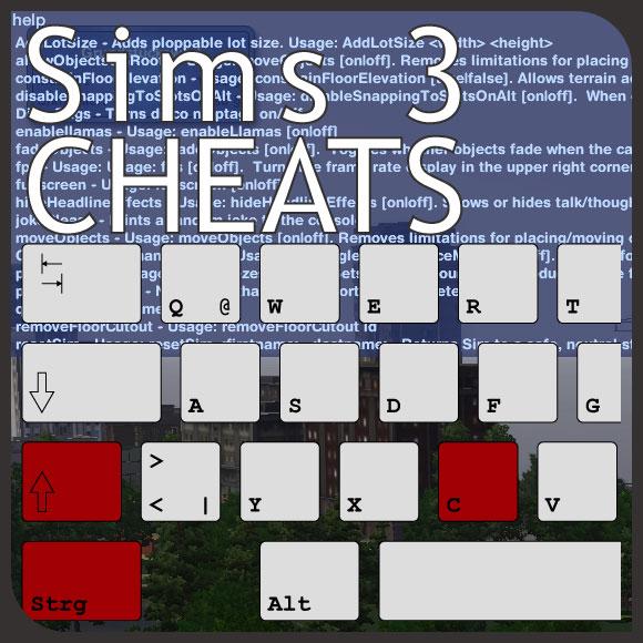 SIMS 3 PC CHEATS MAX SKILLS