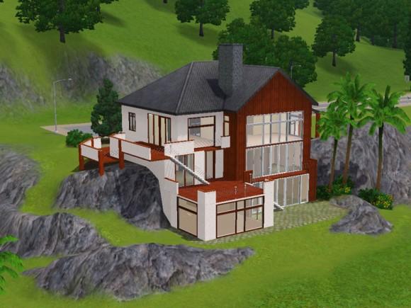 Keanu huge hillside house simension for Sims 3 modernes haus zum nachbauen