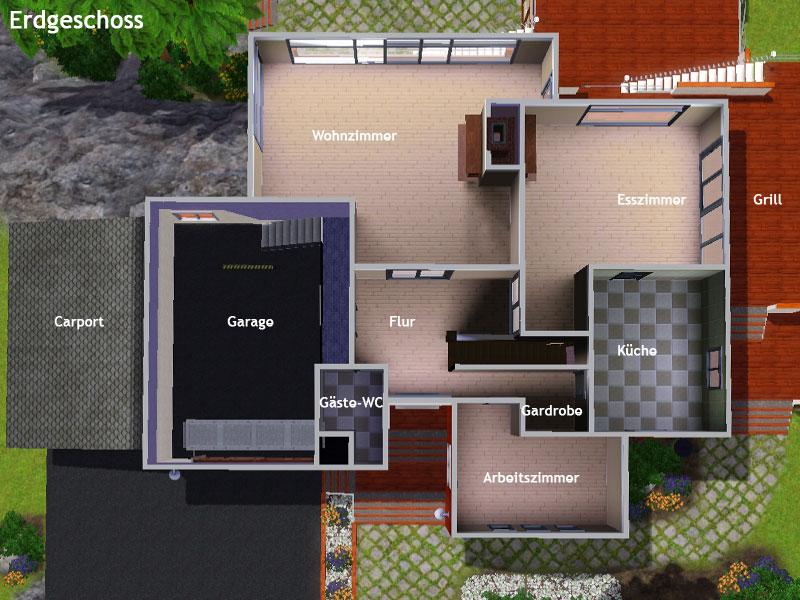 Sims 3 Häuser Ideen Grundrisse