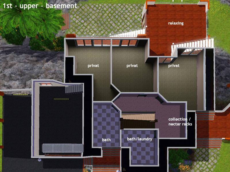 Sims 3 moderne häuser grundrisse  Keanu - huge hillside house - simension