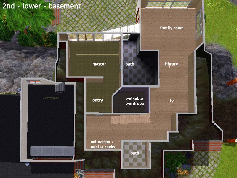 Keanu huge hillside house simension for Modernes haus sims