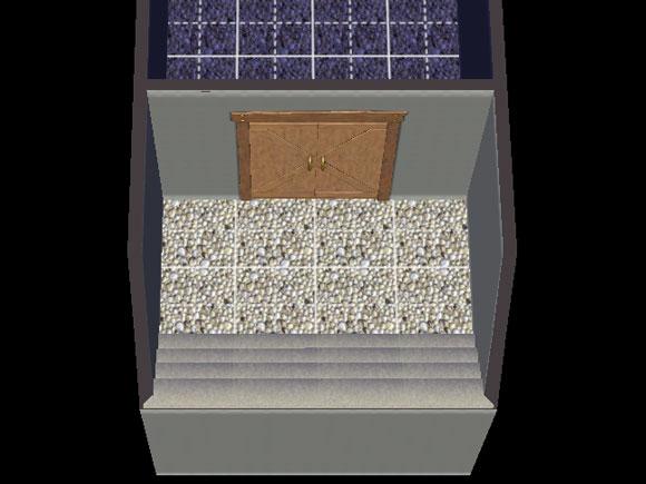 Wand mit Keller als für die Abteilung des überdachten Kellers