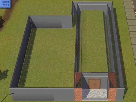hochstehende Kellerteile wurden zwischen Fundament und Mauern versteckt