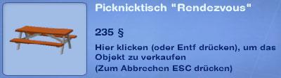 Picknicktisch Rendevouz