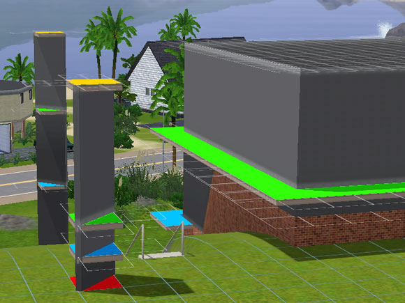 The sims 3: build houses and edit town.