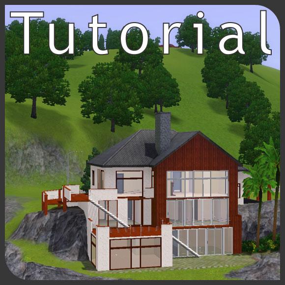 Tutorial: Hanggrundstücke - in den Hang gebautes Haus - simension