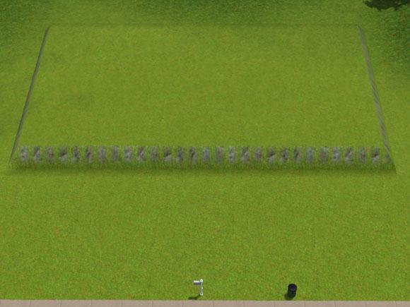 Anhebung des Geländes im hinteren Grundstücksbereich