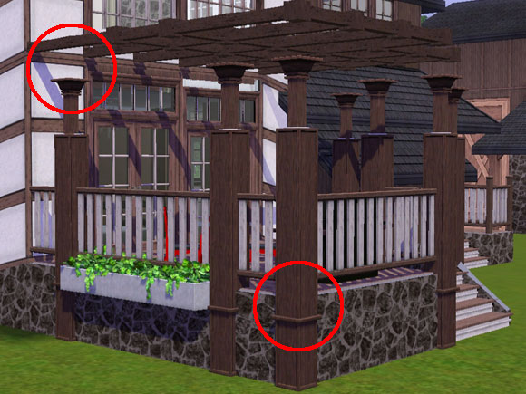 Sims 3 Constrain Floor Elevation Tutorial : Tutorial pergola without gaps between columns and fences