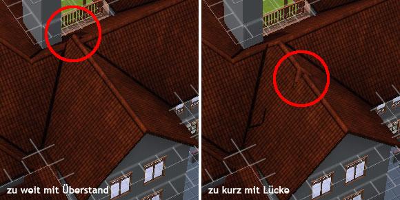 Dachkonstruktion mit dem dach werkzeug simension for Sims 4 dach bauen