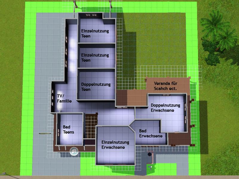 Sims 3 moderne häuser grundrisse  Häuserbau Anfänger - Sim Forum
