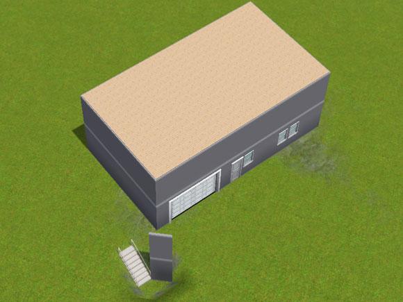 Absenkung der Etage auf Kniestockhöhe mittels Konstruktionstreppe