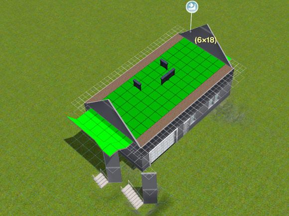 Konstruktion der Dachschräge