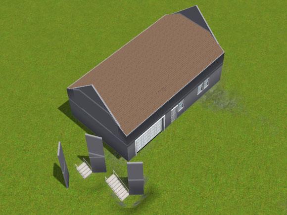 Komplette Dachschrägen