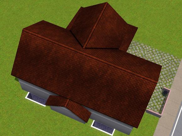 Dachdeckung mit Satteldach