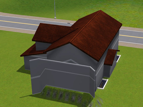 an die Dachschrägen angepasstes Dach