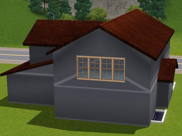 fertig konstruierte Dachschrägen