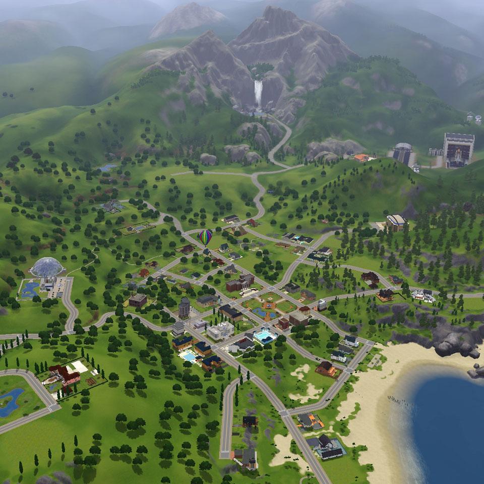 Übersicht über Sunset Valley