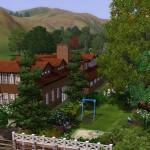 Sims 3 Gulfhaus - side view   Seitenansicht 1