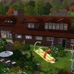 Sims 3 Gulfhaus - rear view   Rückansicht
