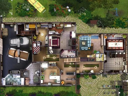 Gulfhaus - floor plan: downstairs   Grundriss: Unterschoss