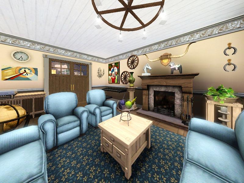 Sims 3 residential - Lotta - restored farm - Gulfhaus