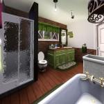 Sims 3 Gulfhaus - master restroom   Elternbad