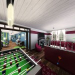 Sims 3 Gulfhaus - tv/party room | Fernseh- /Partyzimmer